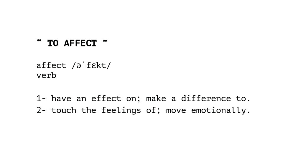 "4: poem ""TO AFFECT"""
