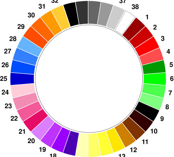 The Manchester Color Wheel: Development of a novel way of identifying color choice and its validation in healthy, anxious and depressed individuals